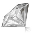 diamond side view vector image vector image