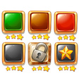 Gaming buttons vector image vector image