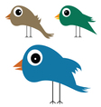 cute and funny bird vector image