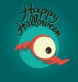Dead eye Happy Halloween vector image
