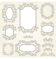Design elements and page decoration vintage frames vector image
