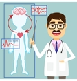 Doctors says vector image