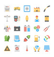 energy and power flat icons vector image