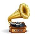Gold gramophone vector image