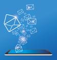 Sending E-mail vector image