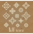 Set of different ethnic signs vector image