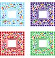 mosaic border vector image