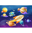 Solar system of planets vector image vector image