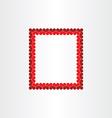 wedding invitation heart frame background border vector image