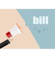 bill flat design business vector image