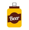 beer can isolated icon design vector image