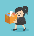 concept of the expulsion of business woman vector image