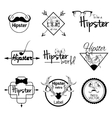 Hipster label set vector image