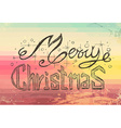 Merry Christmas Vintage Lettering Background vector image