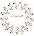 poppy circular frame vector image