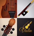 Violin design vector image