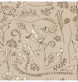 Seamless doodle tender floral background vector image vector image