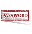 PASSWORD outlined stamp vector image