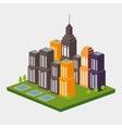 isometric city design vector image