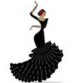 abstract flamenro girl in black vector image