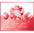 abstract frame with heart vector image