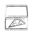 big pizza food vector image