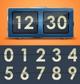 clock 11 1 flipclock VS vector image