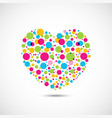 colorful dots on heart shape vector image