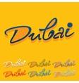 Flat design Dubai vector image