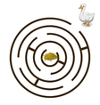 Game labyrinth find a way goose vector image