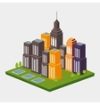isometric city design vector image