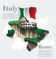 Italy country infographic map in 3ds italy vector image