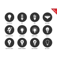 Light icons on white background vector image