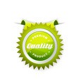 quality sign vector image