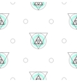Sacred geometry triangle shapes seamless vector image