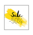 sale lettering sign vector image