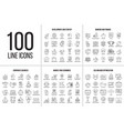 set of thin line icons vector image