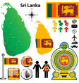 Sri Lanka map vector image
