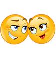loving emoticons vector image vector image