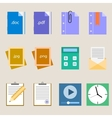 Set a simple flat icons for your design vector image vector image