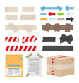 set of different scotch tape on white background vector image
