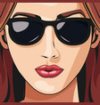 woman face lipstick beautiful young vector image