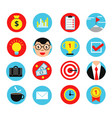 business icon set in flat style vector image