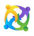 Teamwork hugging logo vector image