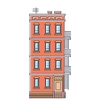 - new york united states red brick old building vector image