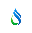 abstract water ecology swirl logo vector image