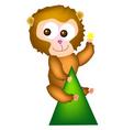 giant monkey vector image vector image