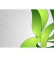 Bright green wavy grunge background vector image