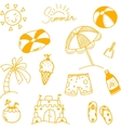 Hand draw summer doodle vector image