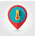 Thermometer flat pin map icon Weather vector image
